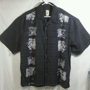 JAMAICA JAXX Mens Shirt 100% SILK Floral Hawaiian